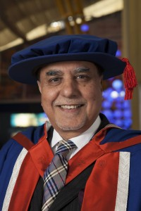 Subhash Chandra receiving an honorary doctorate from the University of East London.