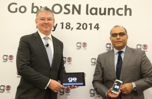 David Butorac, OSN CEO, and Emad Morcos, SVP, Business Development & Digital, at the Go by OSN launch.
