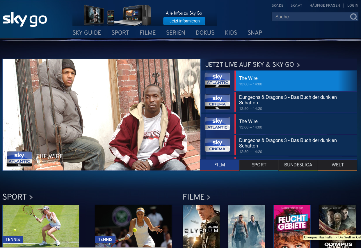 sky go android tv