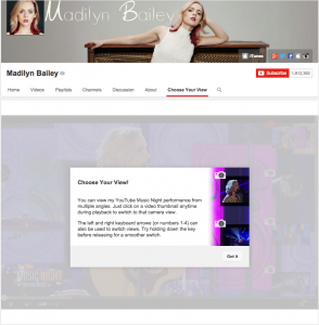 YouTube choose your view Madilyn Bailey