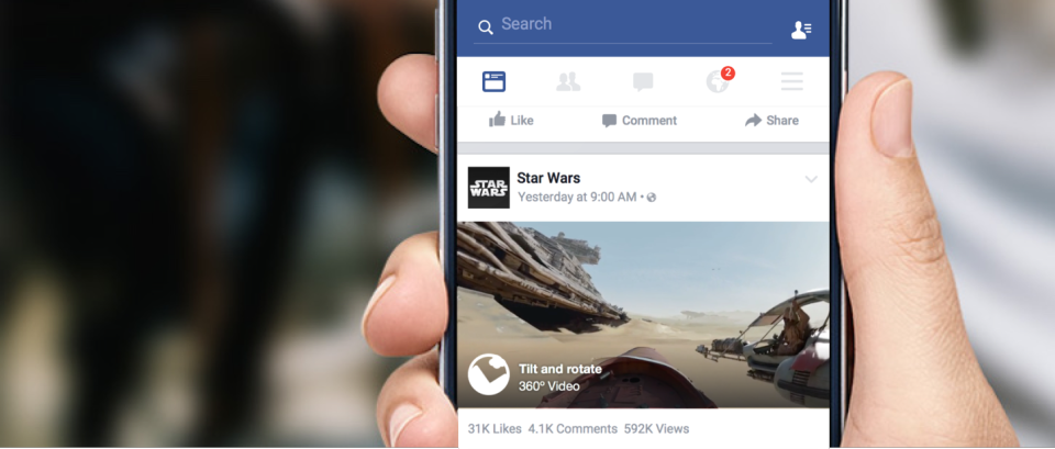 facebook 360 in news feed