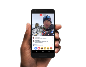 Facebook's new 'live-reactions' function