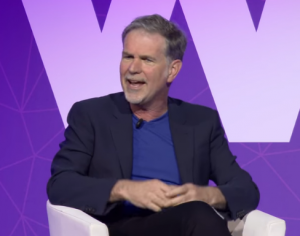 Reed Hastings speaking at Mobile World Congress 2017