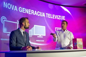 Richard Brešković demonstrates T-HT's new TV platform