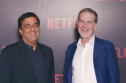 Ronny Screwvala, head of Indian production company RSVP, & Netflix's Reed Hastings