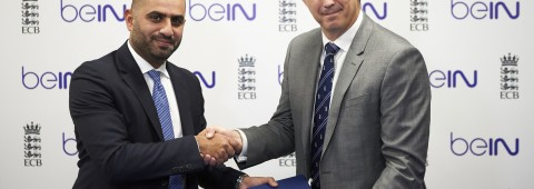 Yousef Al-Obaidly and Tony Harrison, CEO of the ECB