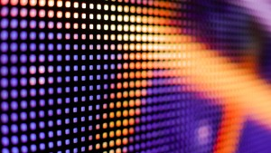 Colored purple and yellow LED smd screen