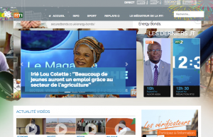 RTI's website: a growing number of Côte d'Ivoire citizens have web access