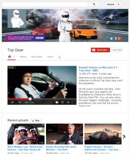 Top Gear YouTube screengrab