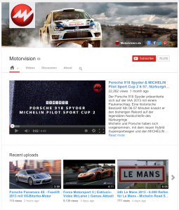 Motorvision YouTube Channel.