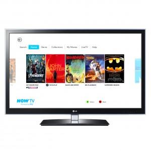 NOW TV TV Home screen