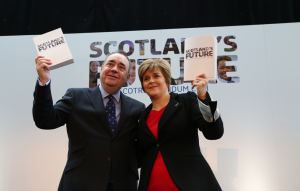Scotland's first minister Alex Salmond and deputy Nicola Sturgeon.