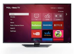 TCL-manufactured Roku TV.