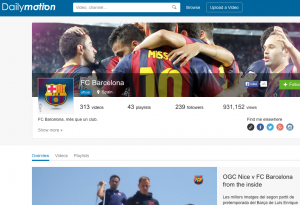 Dailymotion FC Barcelona