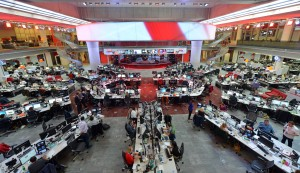 The BBC's newsroom