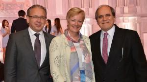 EBU President Jean-Paul Philippot, Director General Ingrid Deltenre & ABU Secretary General  Javad Mottaghi