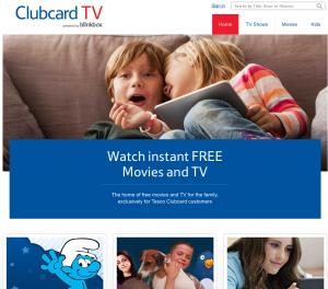 tesco clubcard tv