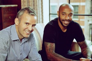Grabyo CEO Gareth Capon with Thierry Henry