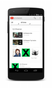 YouTube Music Ed Sheeran