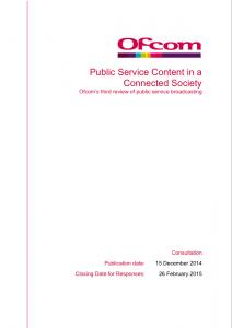 Ofcom public service