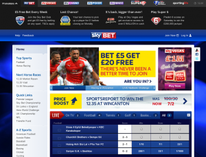 Sky Bet screengrab