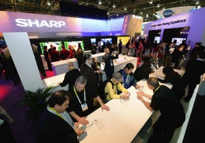Sharp's booth at CES 2015