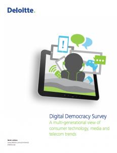 Deloitte Digital Democracy Survey