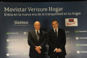 Luis Gil of Securitas Direct Group and  Luis Miguel Gilpérez, president of Telefónica España.