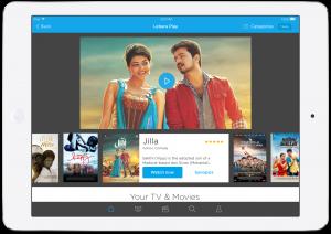 Lebara Play - Home section on iPad
