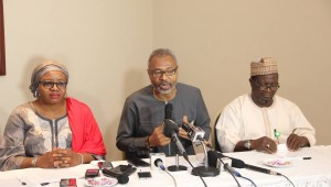 Emeka Mba, centre, outlines Nigeria's DSO plan