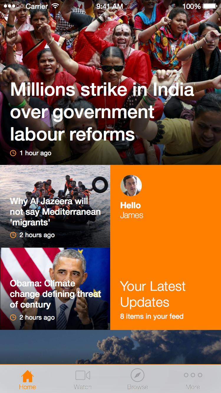 Al Jazeera Android and iOS