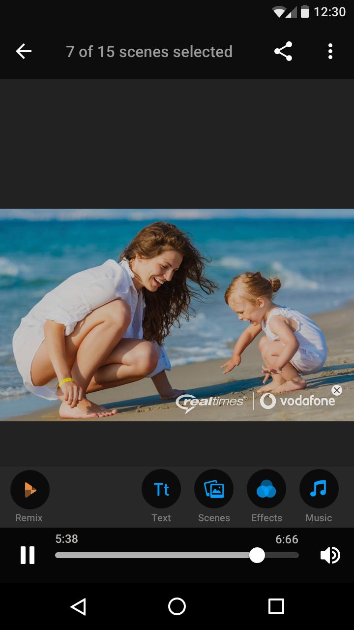 Vodafone - Creator - Portrait - Playback