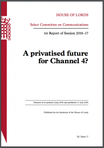 A privatised future for channel 4