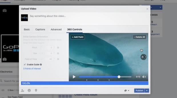Facebook 360° tools