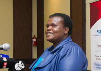 South African communications minister Faith Muthambi
