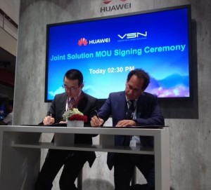 Huawei and VSN sign their deal at IBC 2016