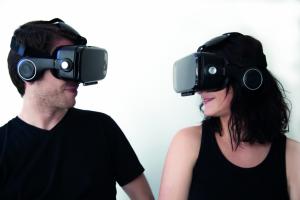 orange virtual reality headset