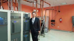 GatesAir CEO Phil Argyris at the Abuja transmitter site