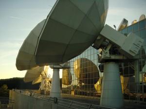 SES Uplink_Antennas_Sunset- BW & Website