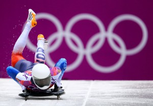 The Skeleton event at the Winter Olympics (Getty Images)