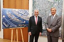 Boulogne-Billancourt mayor Pierre-Christophe Baguet & Vivendi chairman Vincent Bolloré