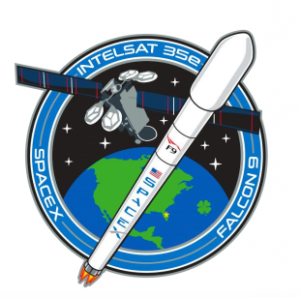 Official SpaceX Intelsat 35e mission patch