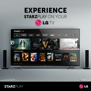 STARZ PLAY Service Now Available on LG Smart TVs-EN