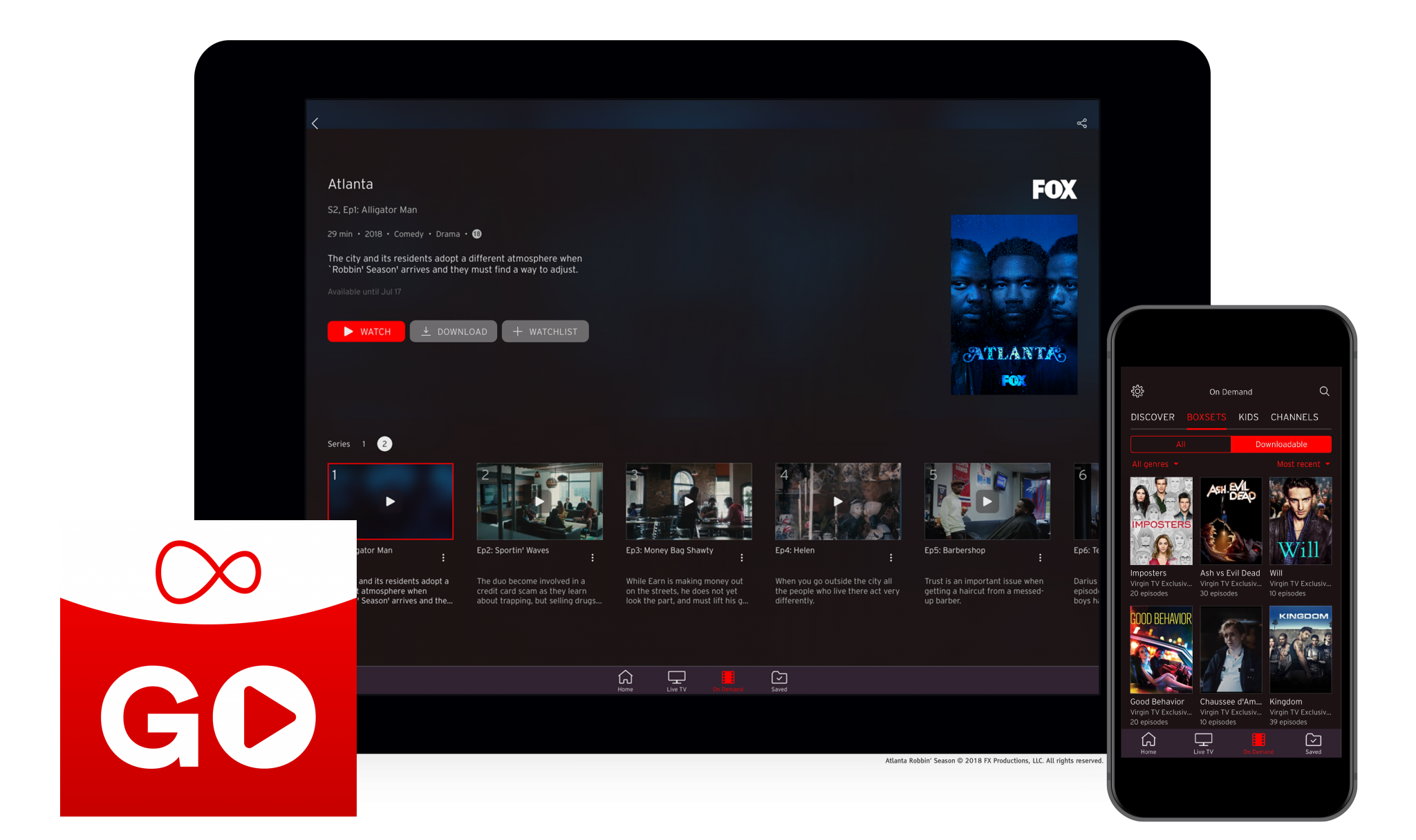 Virgin Media introduces download feature on Virgin TV Go app