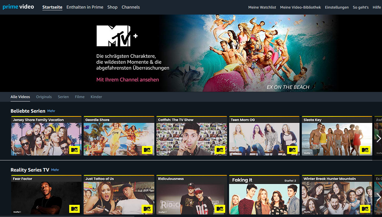 MTV+ joins Amazon channels line-up in Germany and Austria
