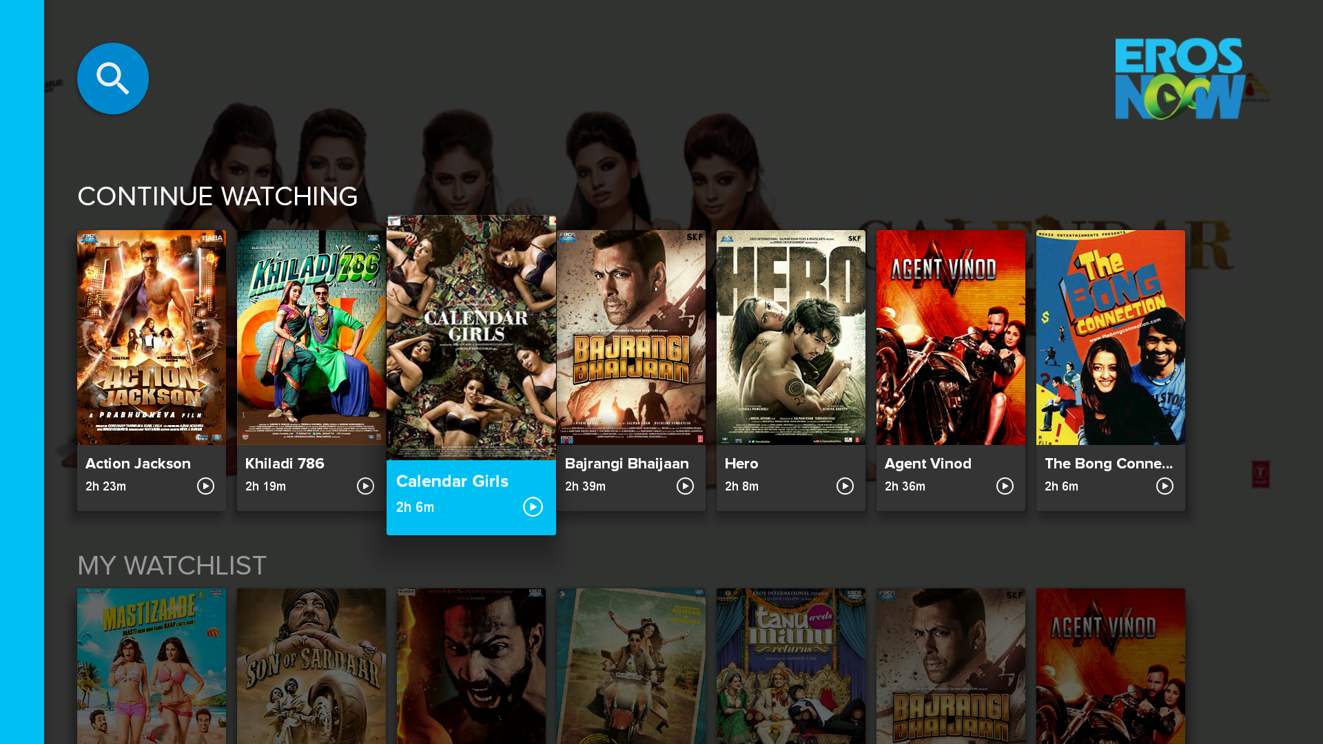Eros Now Screen Preview for the Best Netflix Alternatives Platforms