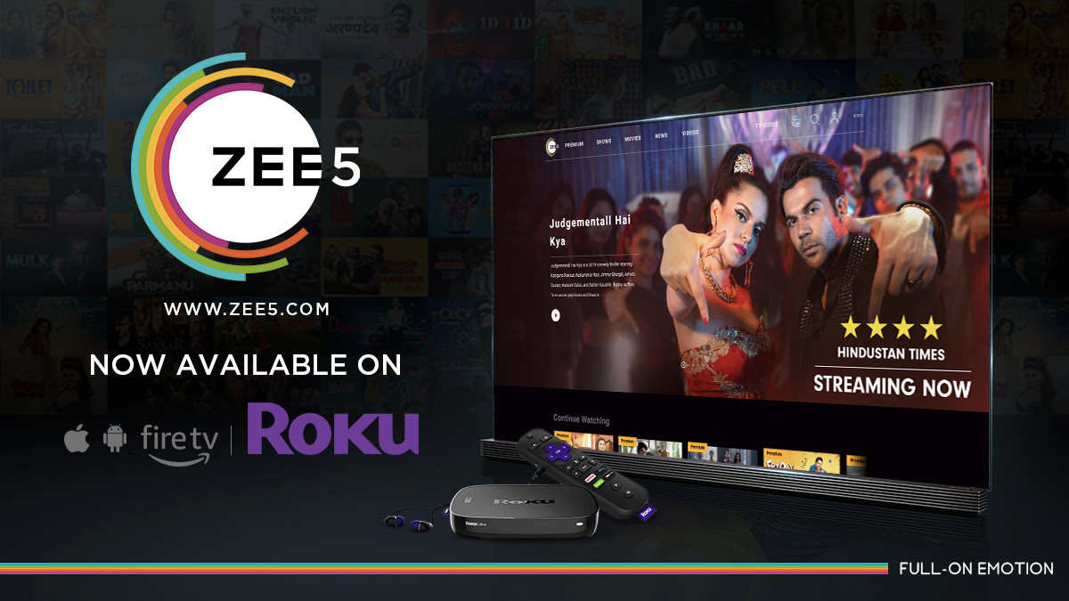 ZEE5 launches on Roku – Digital TV Europe