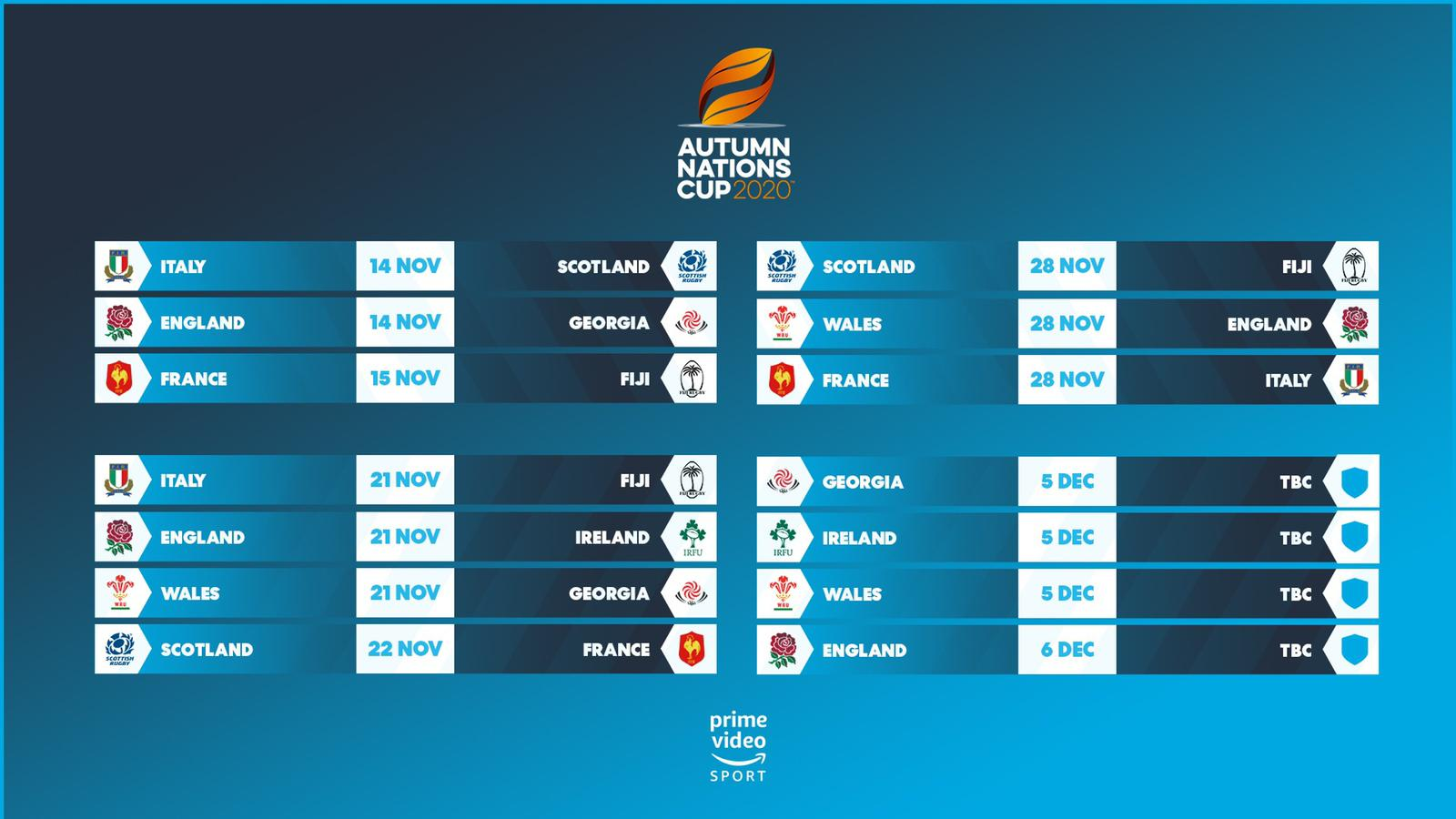 Rugby chiefs unveil Autumn Nations Cup